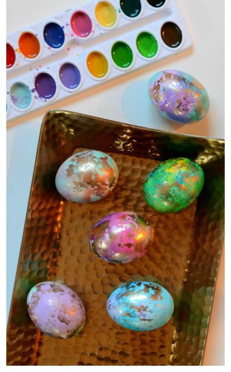 gilded easter eggs diy