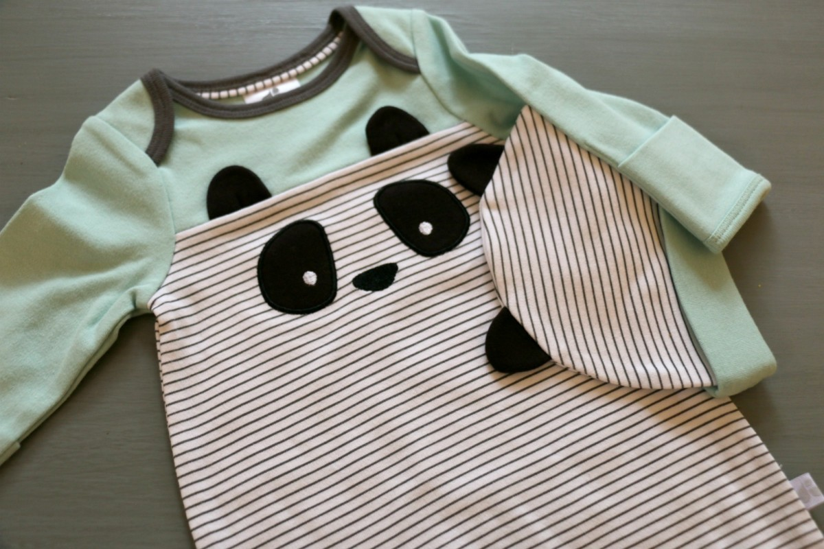 panda baby gown