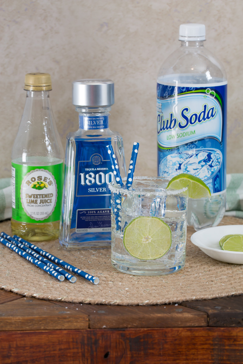 Ingredients for a low calorie margarita