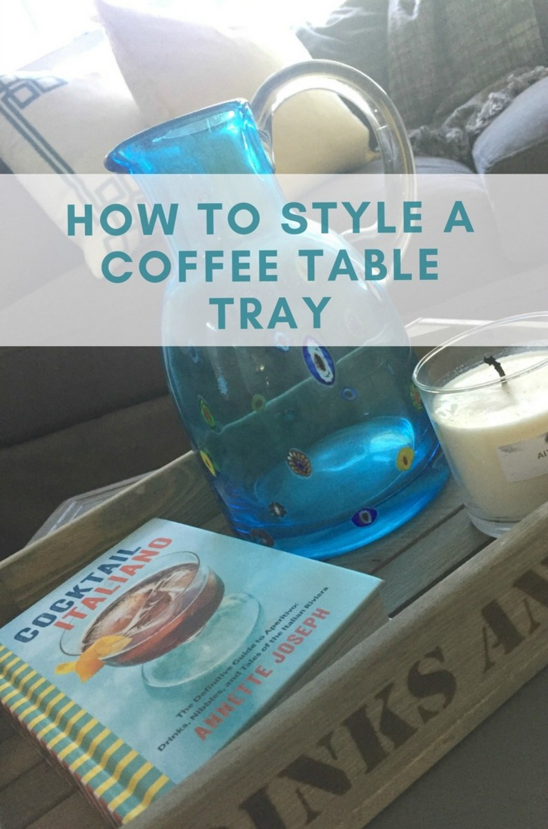 how to style a coffee table tray