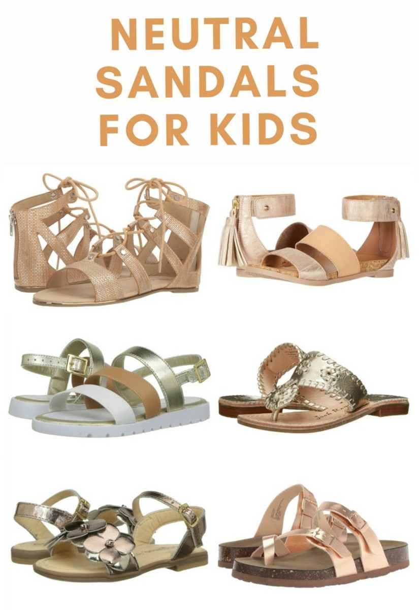 neutral sandals for kids