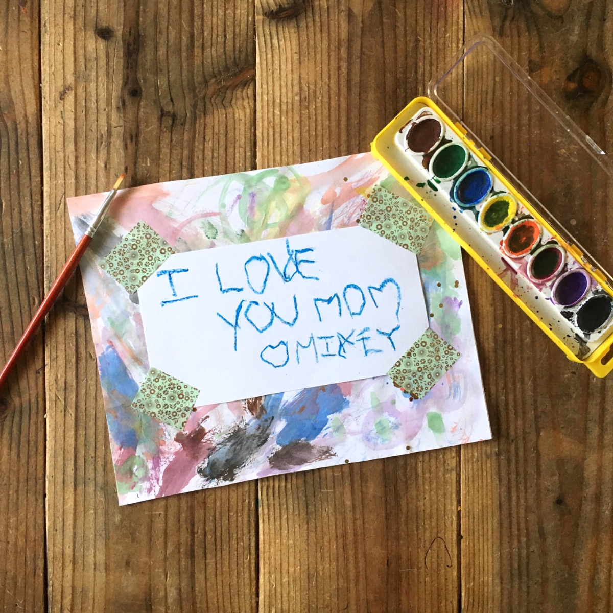 DIY Mother's Day Serving Tray - Watercolor Painting