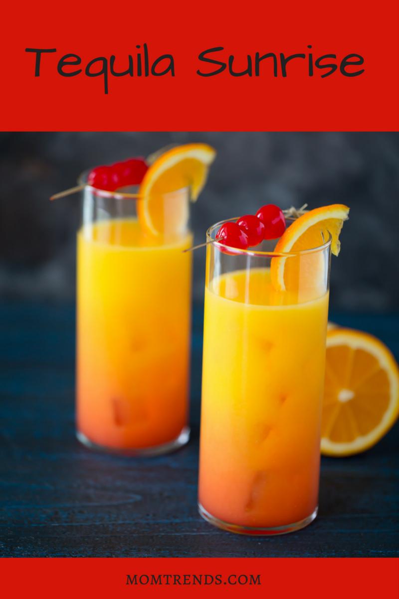 Deliciousl Tequila Sunrise Cocktails