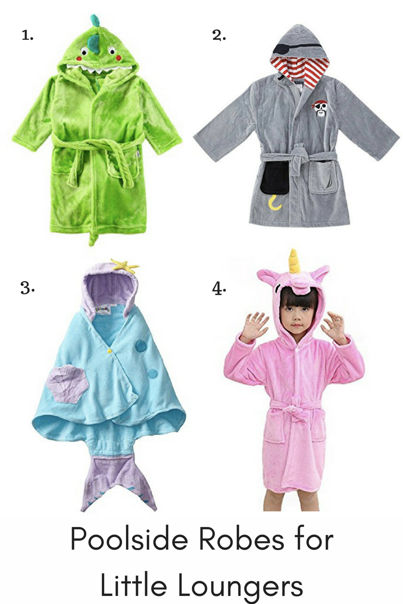Poolside Robes for Little Loungers