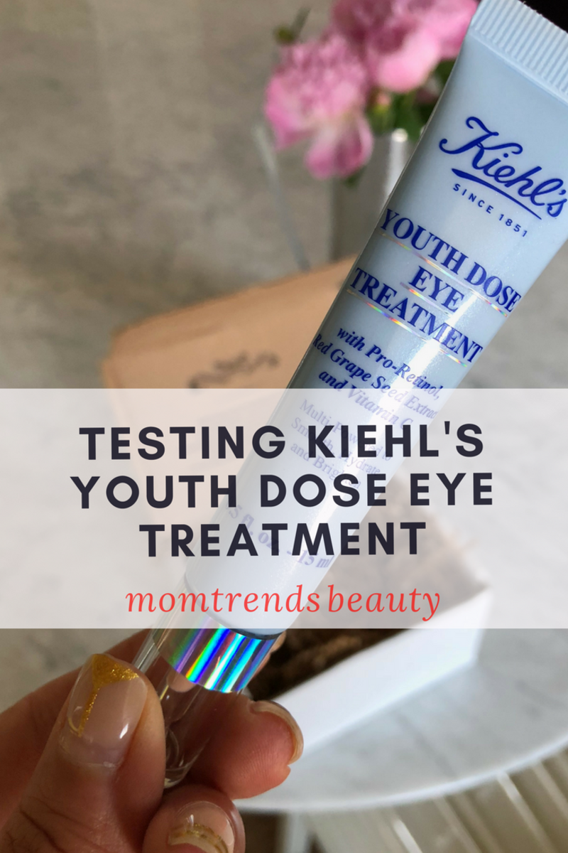 Testing Kiehl's Youth Dose Eye Treatment