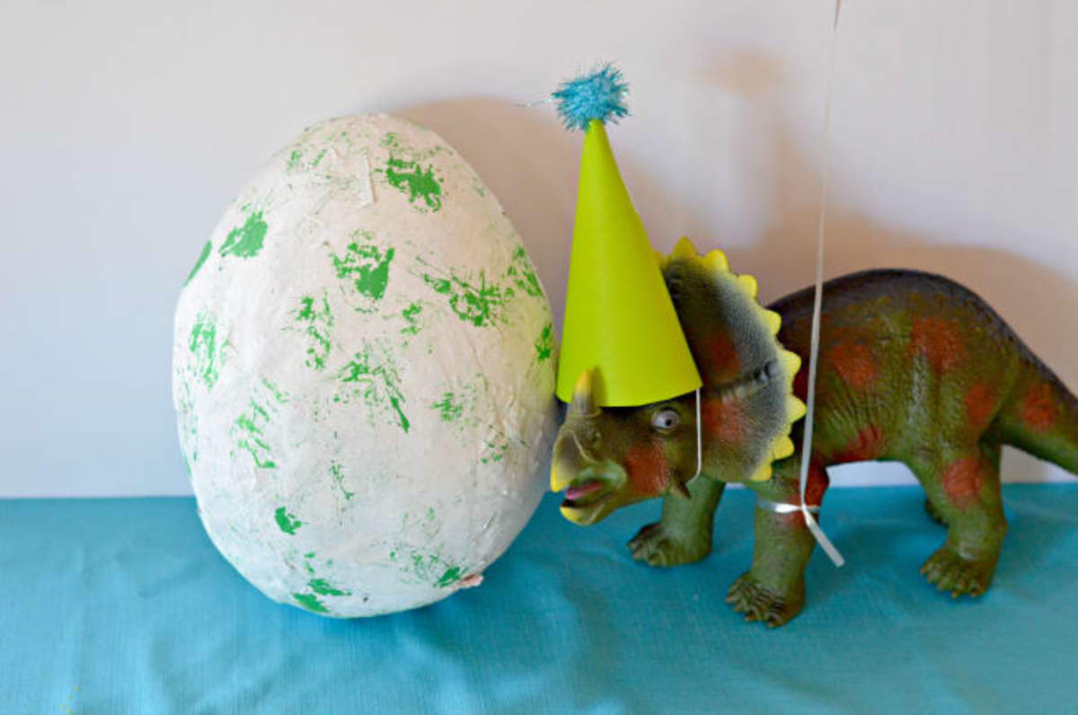 diy dinosaur egg
