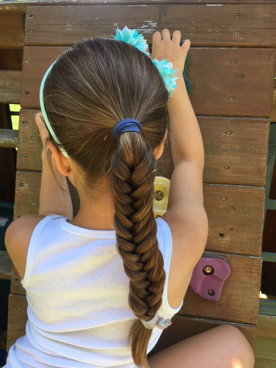 grils hair style easy summer hairstyles for momtrends 7103 | fishtail
