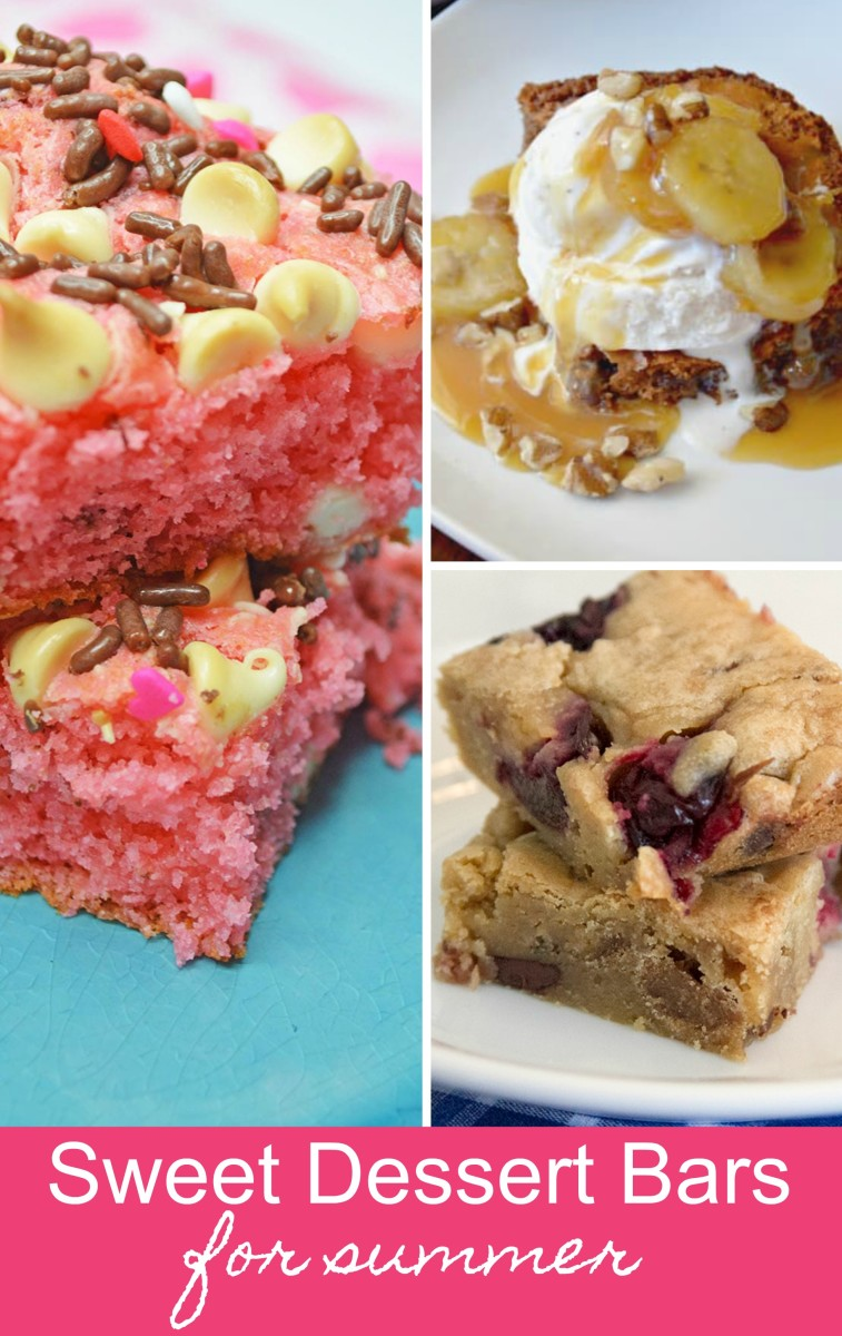 sweet dessert bars for summer