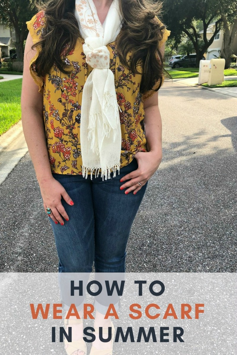 how to wear a scarf in summer