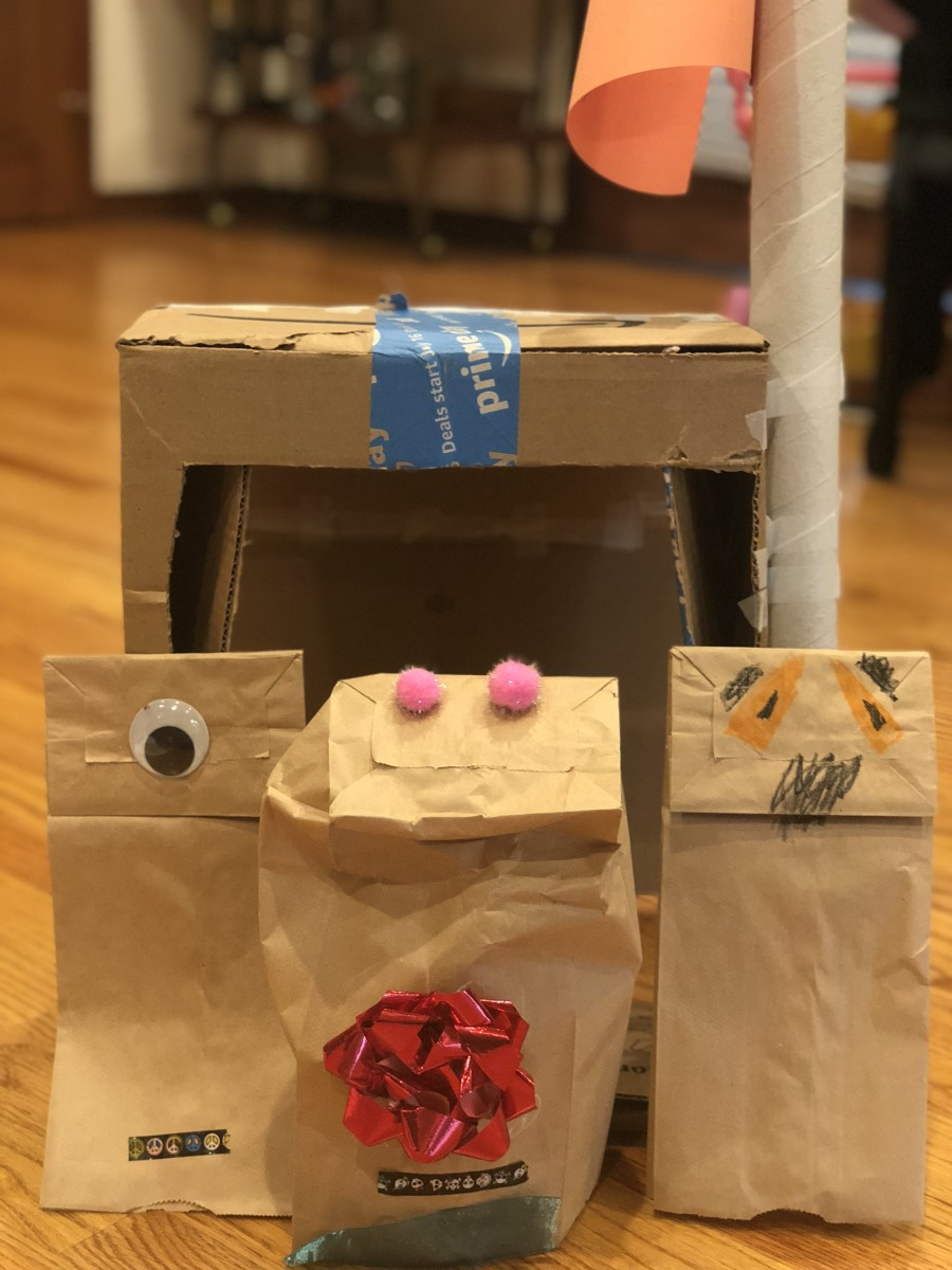 DIY Puppet Theater with Paper-Bag Character Puppets