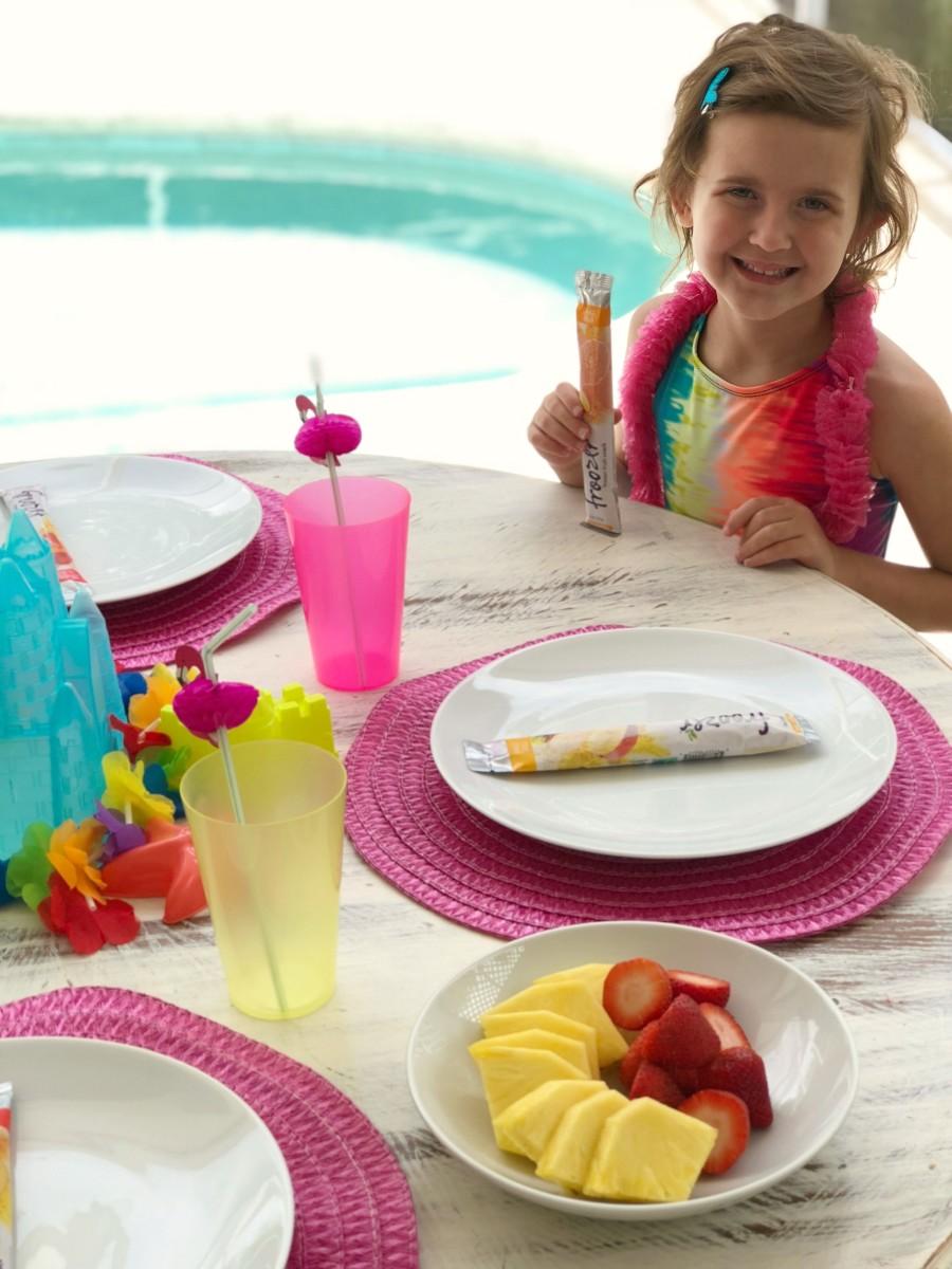 pool party worty frozen fruit treats