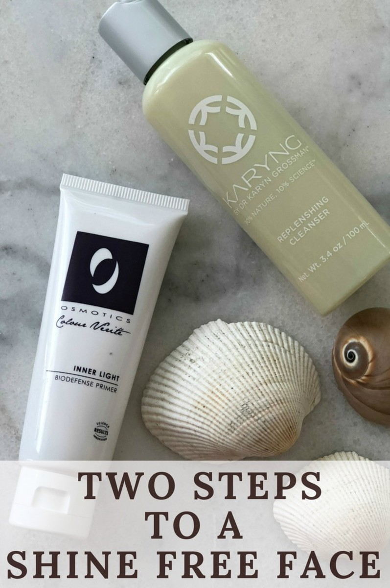 two steps to a shine free face