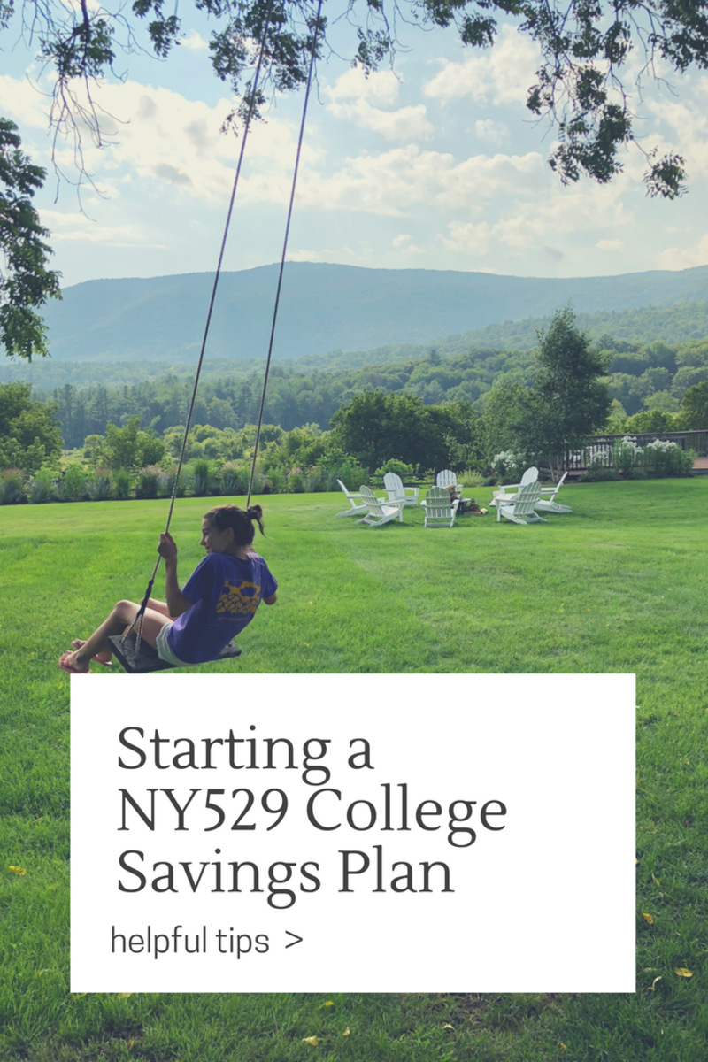 Starting a NY529 College Savings Plan