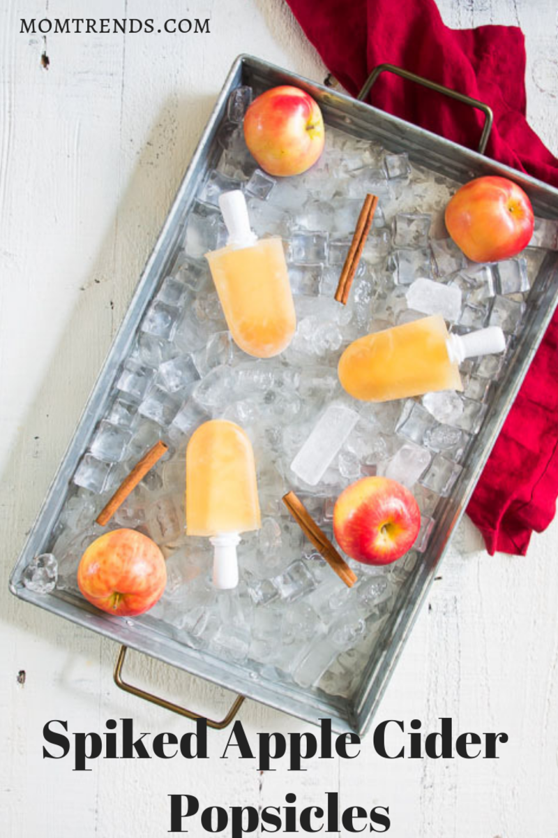 Spiked Apple Cider Popsicles