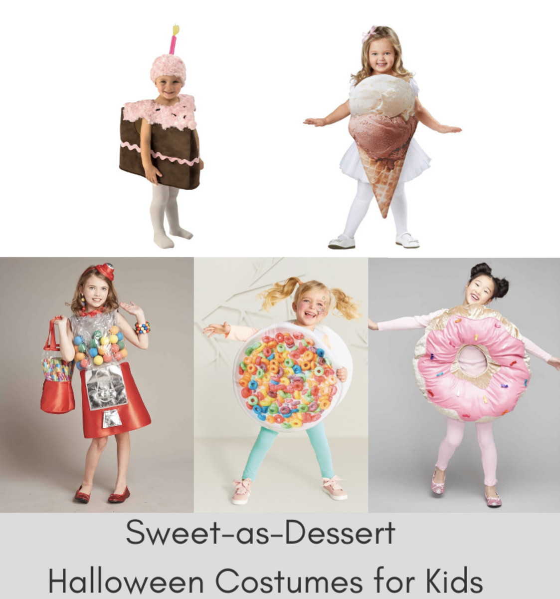 Sweet-as-Dessert Halloween Costumes for Kids