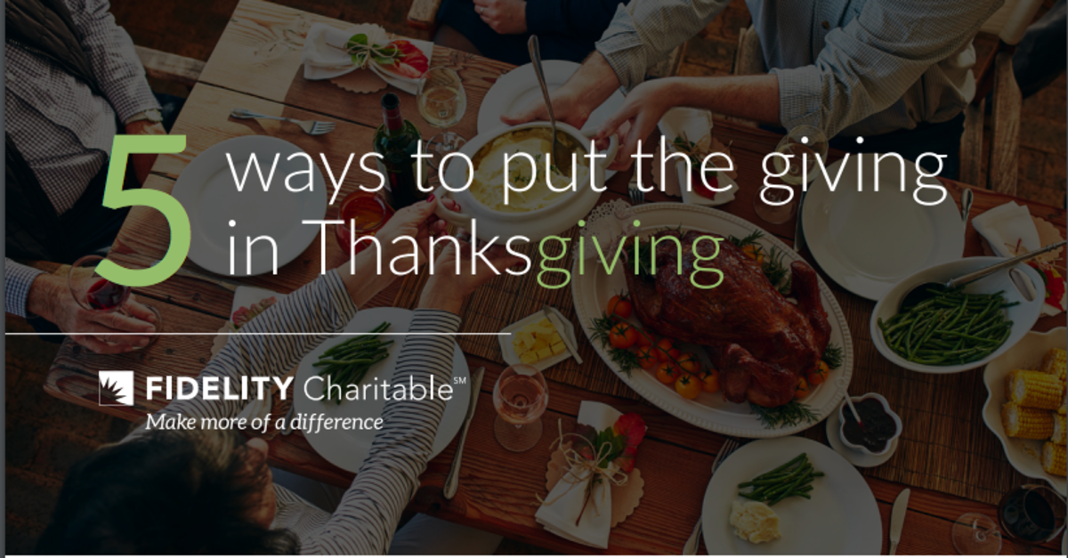 5 Ways to put the GIVING into Thanksgiving
