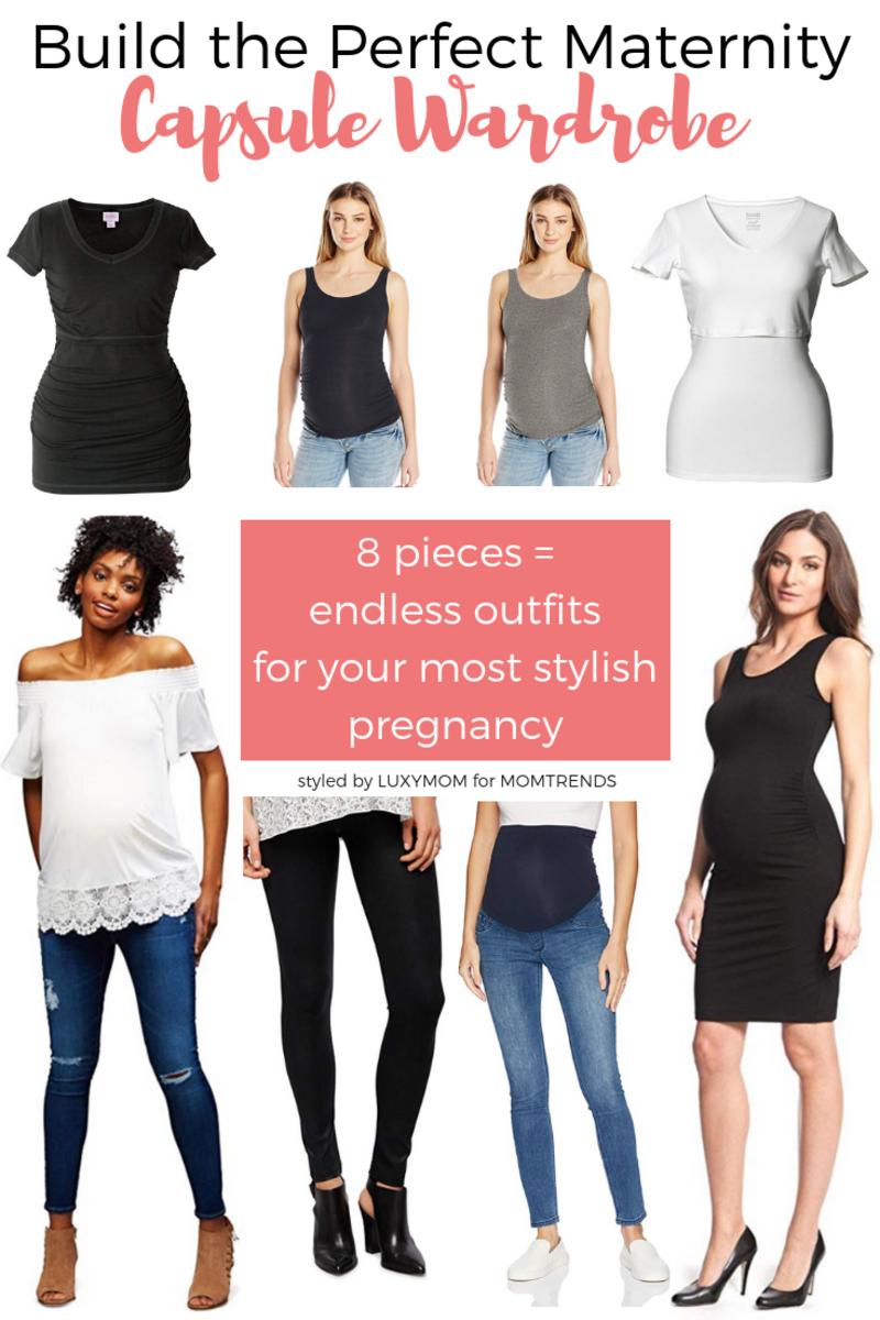 Maternity Capsule Wardrobe - LUXYMOM for MOMTRENDS