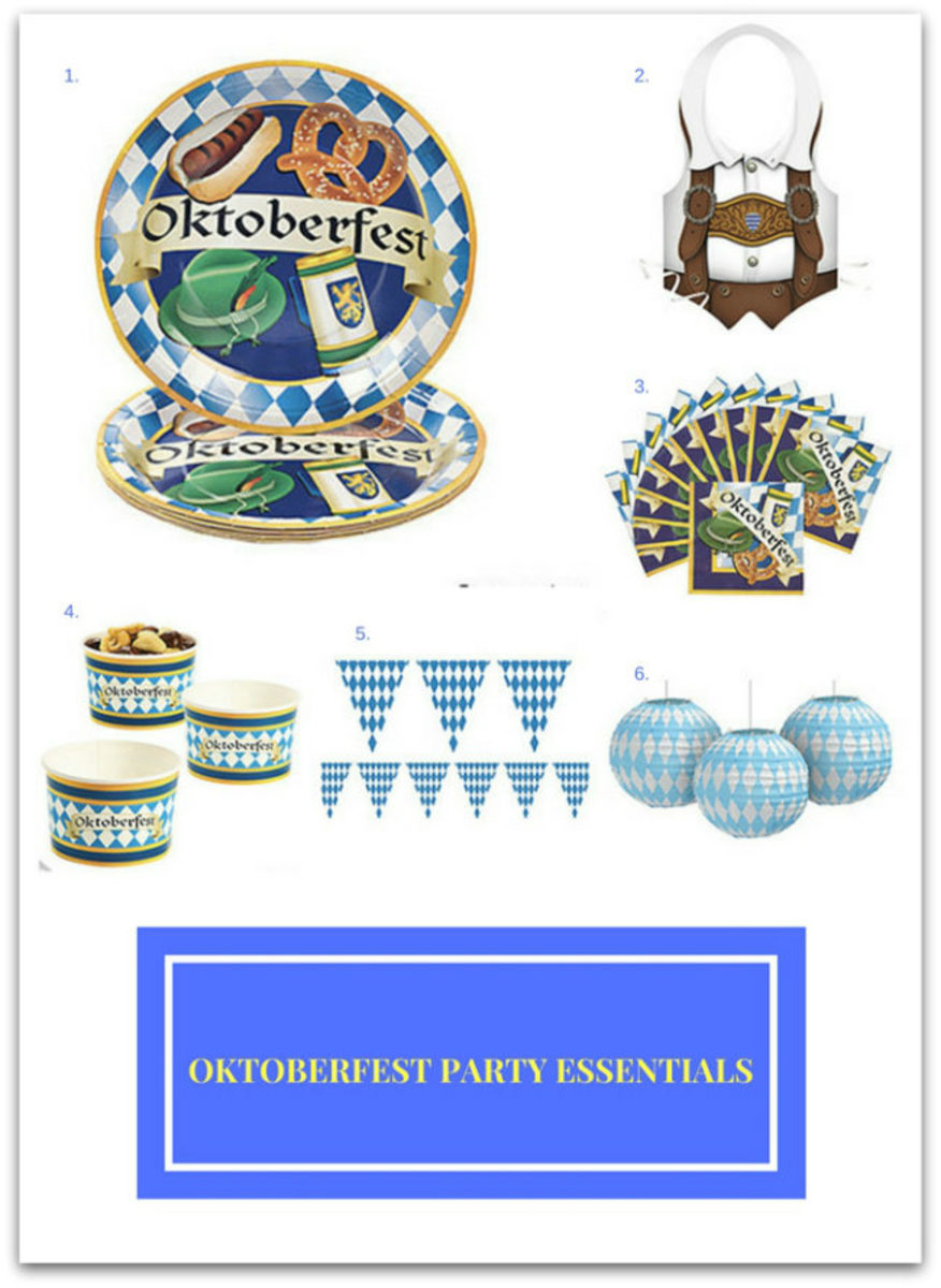 Traditional German Beer and Oktoberfest Party Essentials
