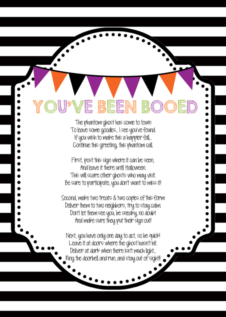 graphic about You've Been Booed Printable Pdf known as Weve Been Booed! - MomTrends