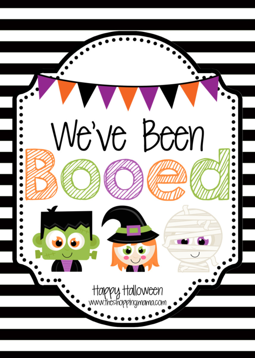 graphic about You've Been Booed Free Printable named Weve Been Booed! - MomTrends
