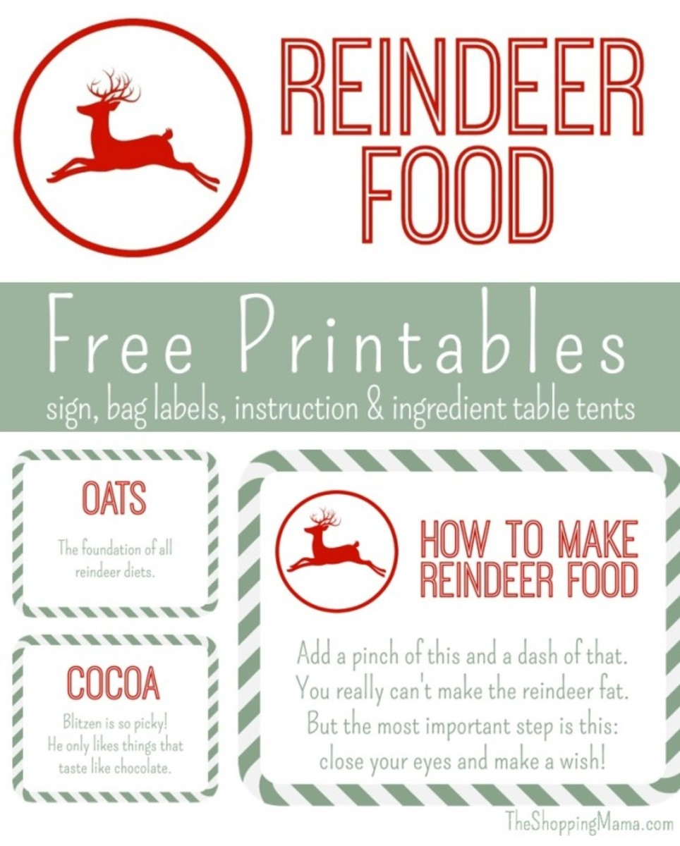 This is an image of Fan Reindeer Food Printable