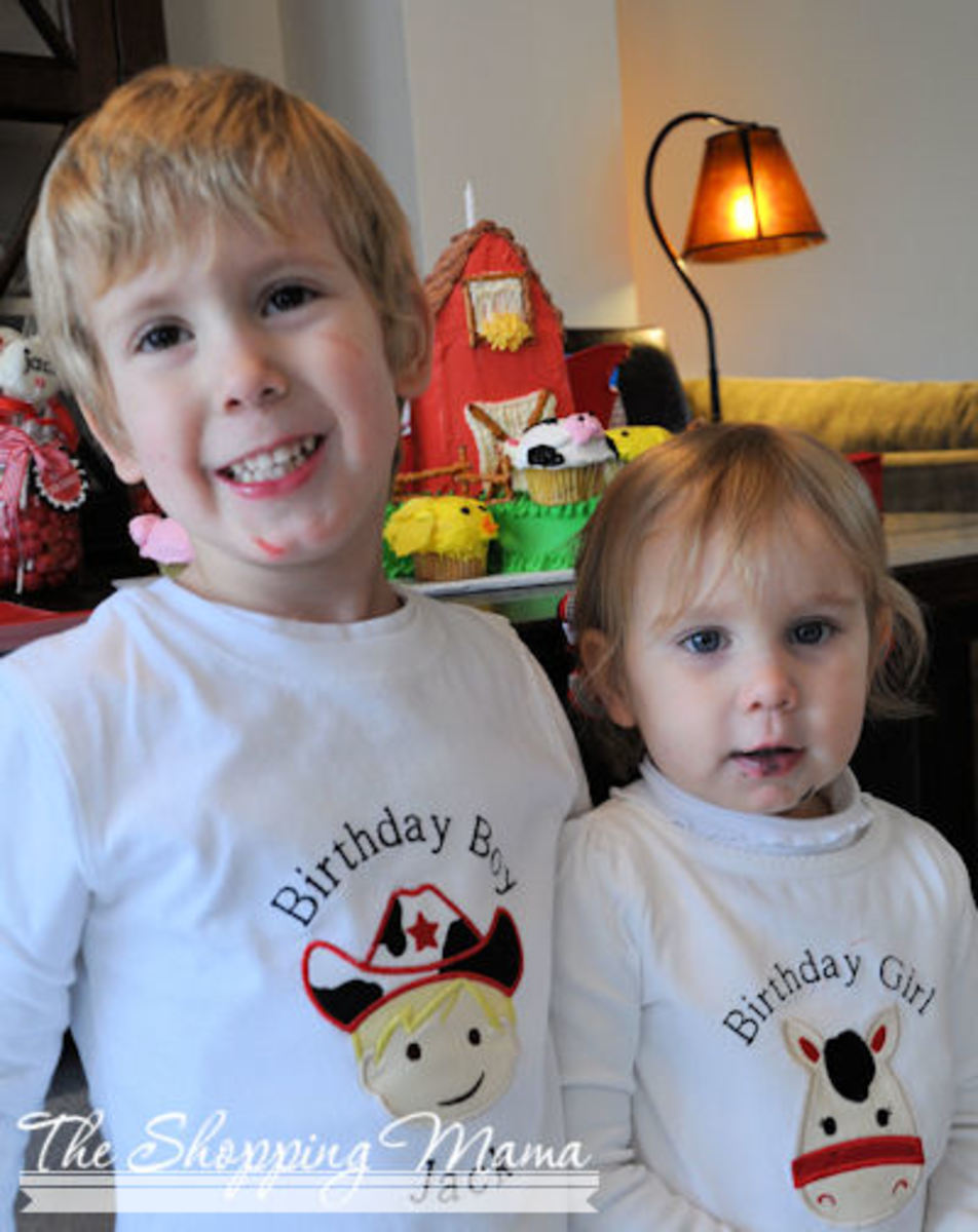 farm birthday tee shirts