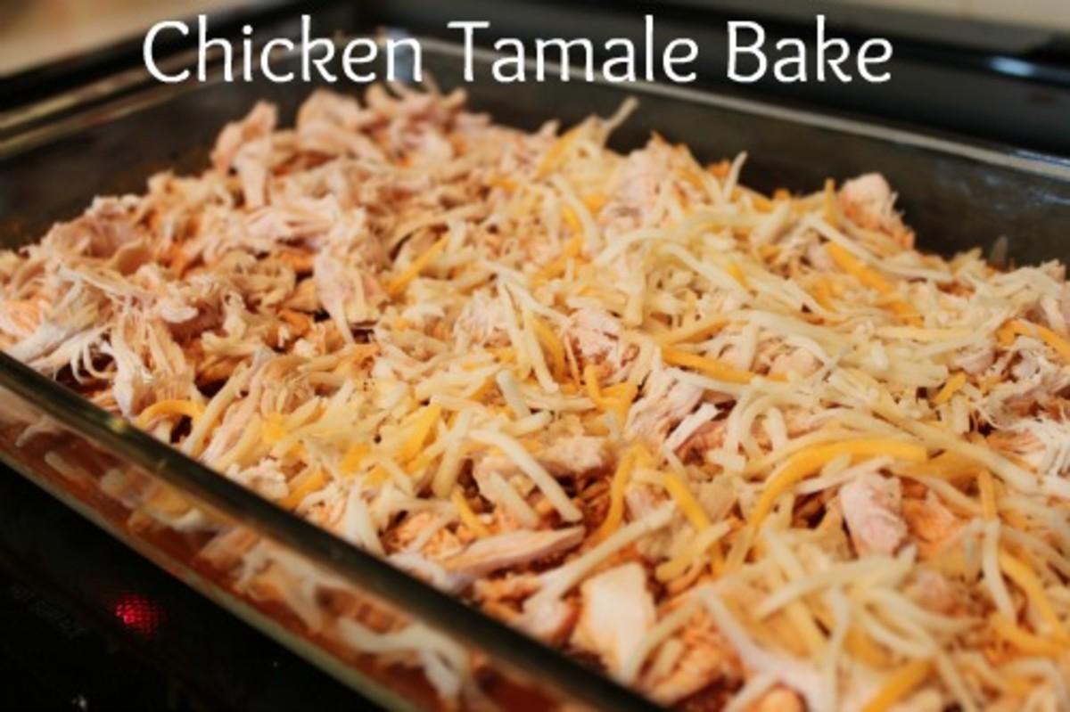 easy chicken tamale bake