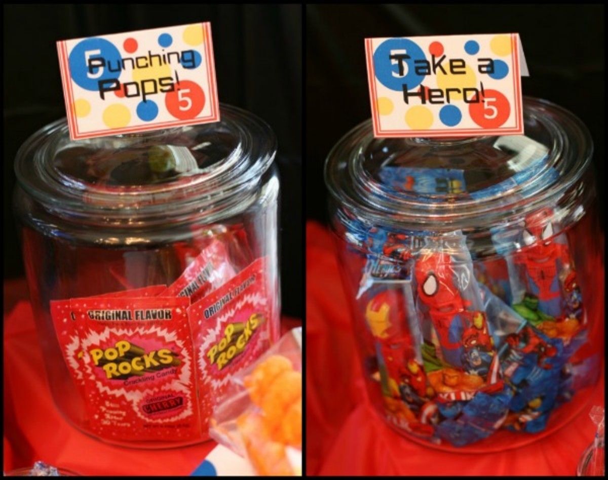 superhero birthday party favors