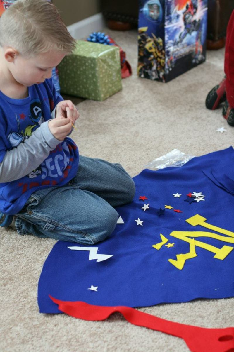 superhero party activity make cape