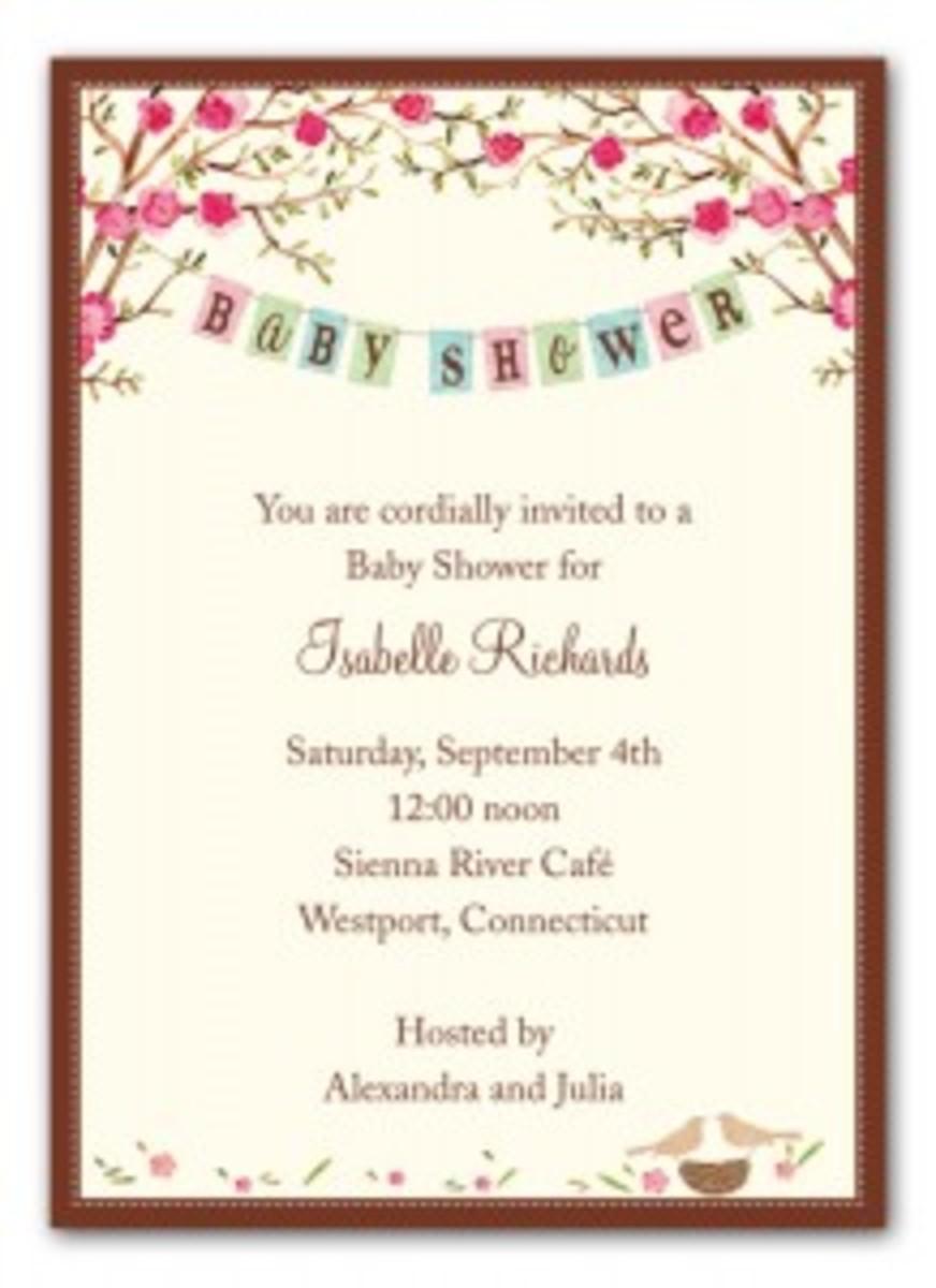 baby shower invite bonnie marcus