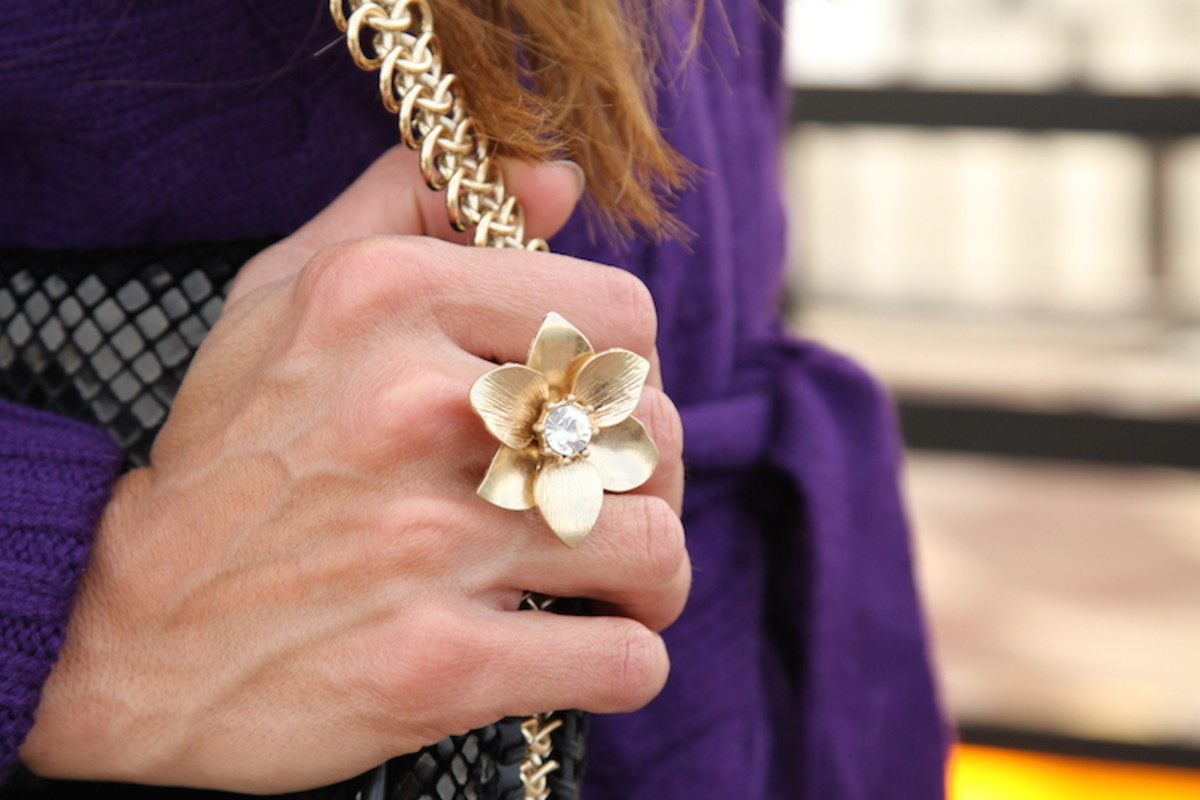 old navy flower ring