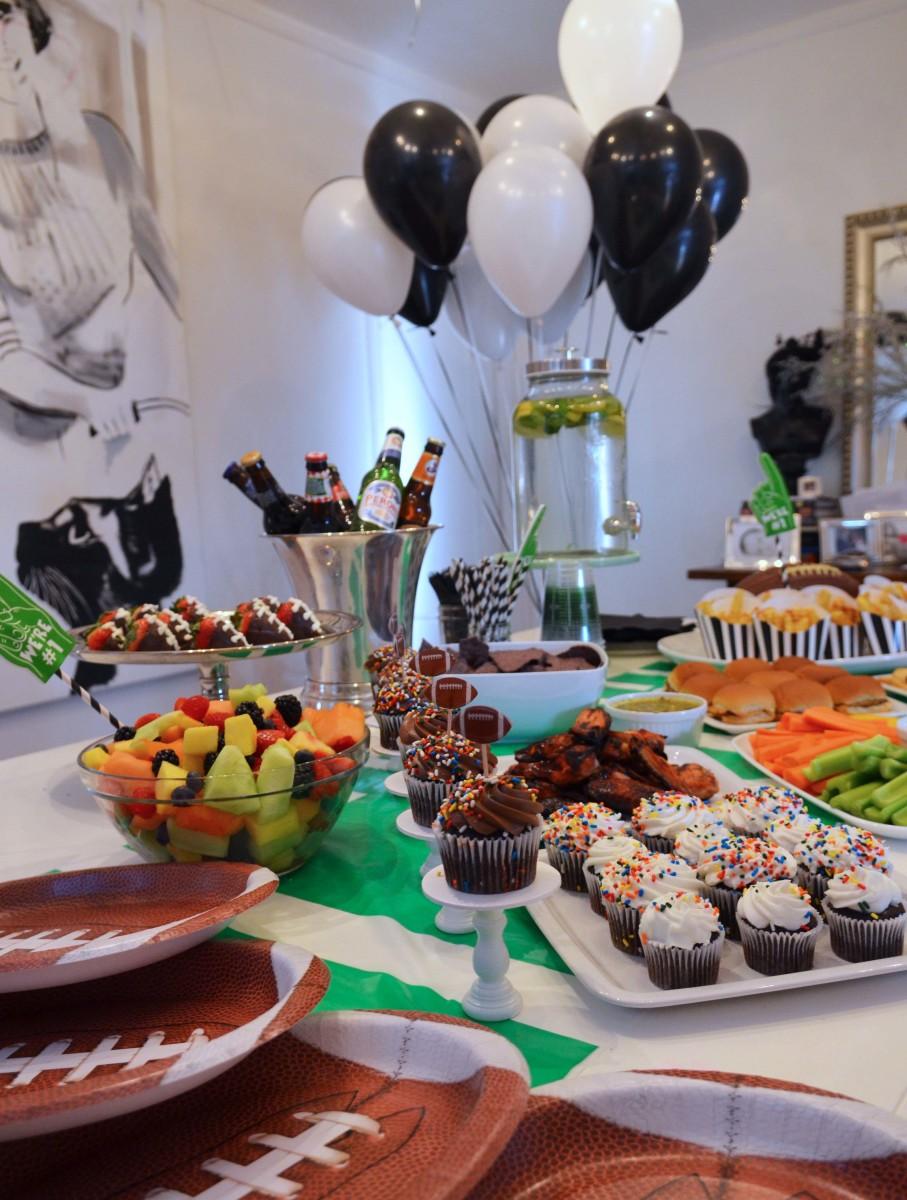 superbowl party tablescape