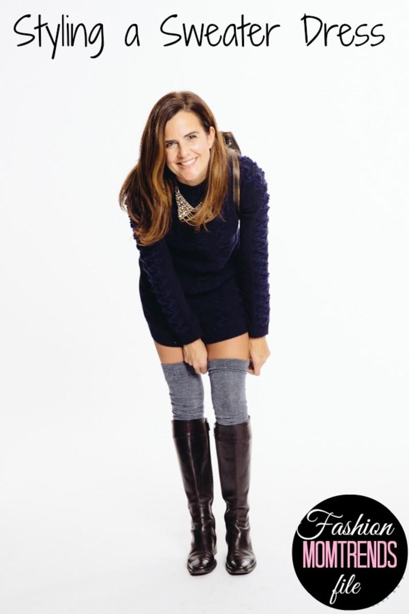 styling a sweater dress, winter fashion