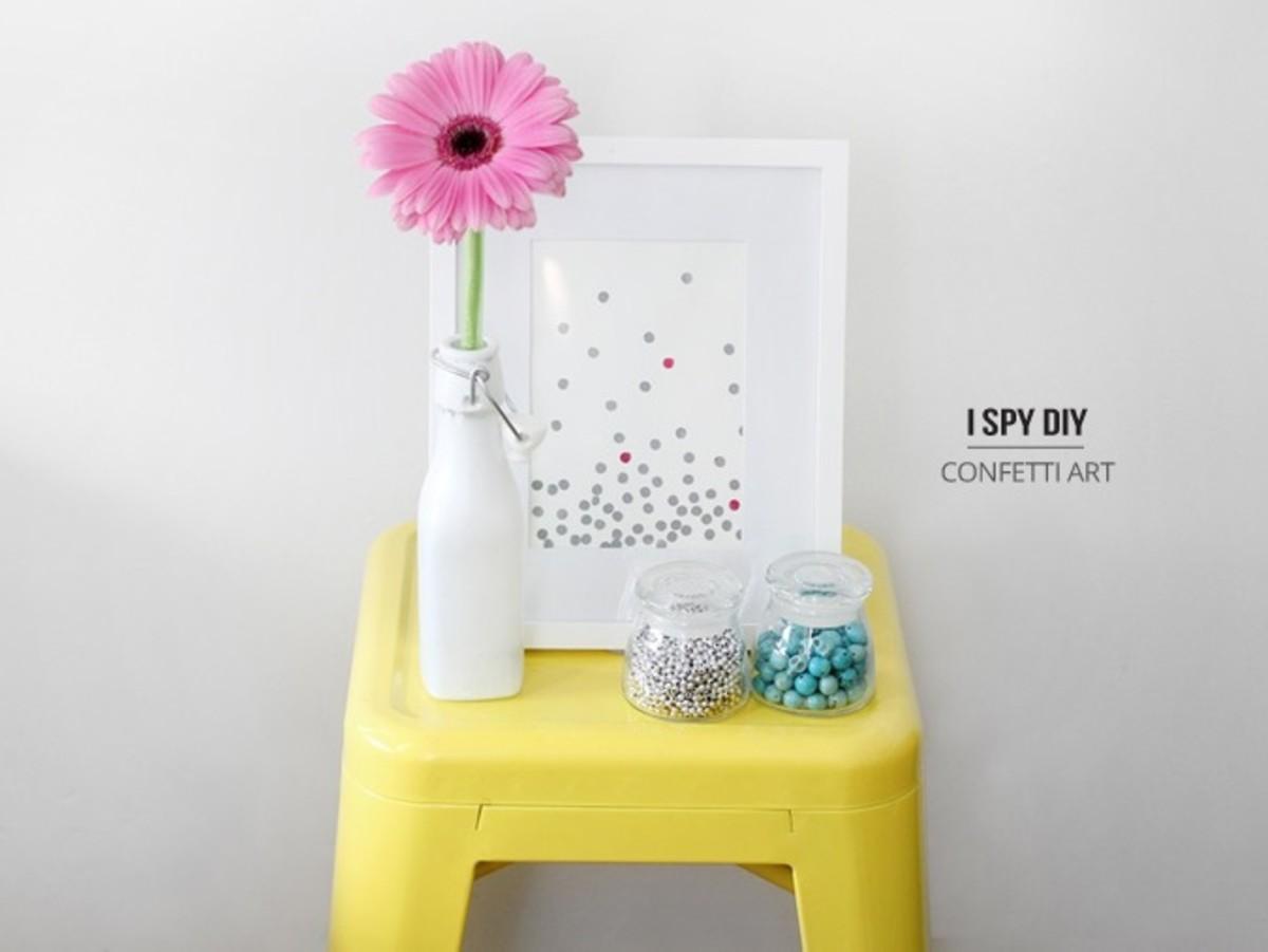 Confetti Art DIY