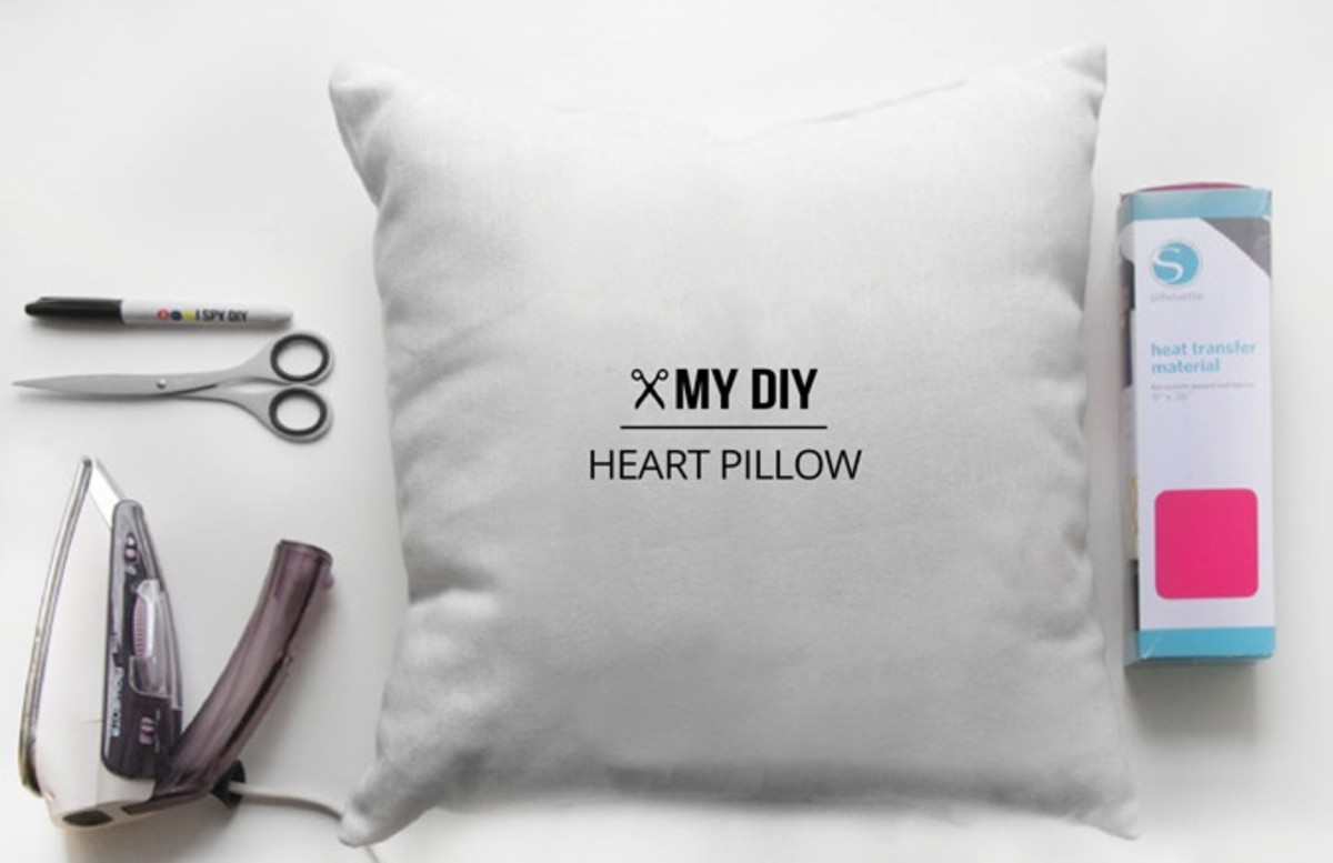 Heart and Punctuation DIY Pillow