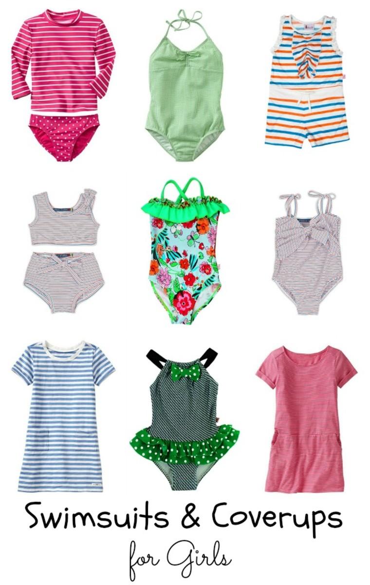 girls swimwear, swimsuits, kids swimsuits, spring break, millions of colors, gap, floatamini