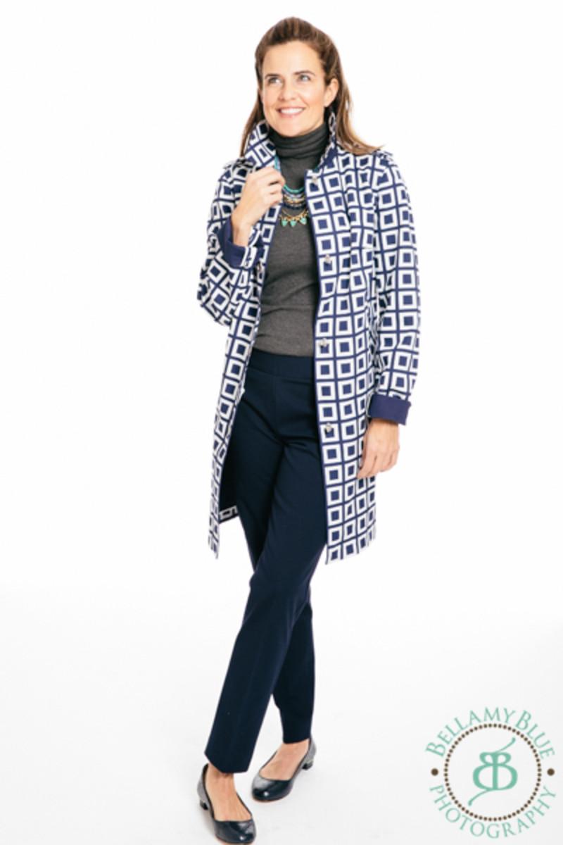 rain coat, talbots fashion
