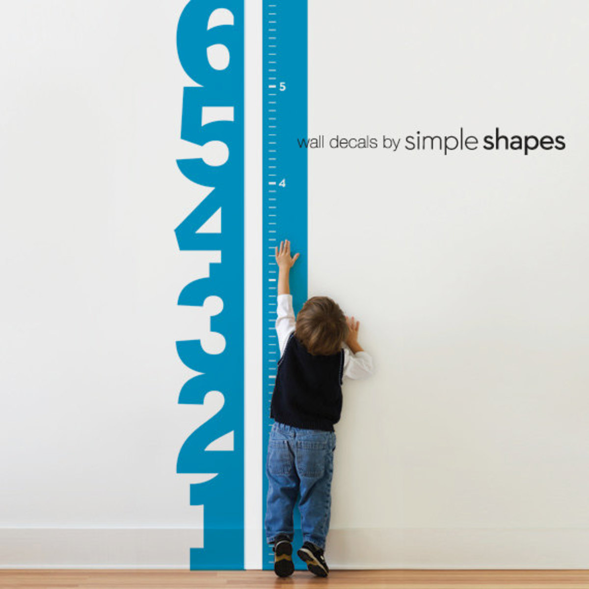 Numbers Wall Decal Growth Chart