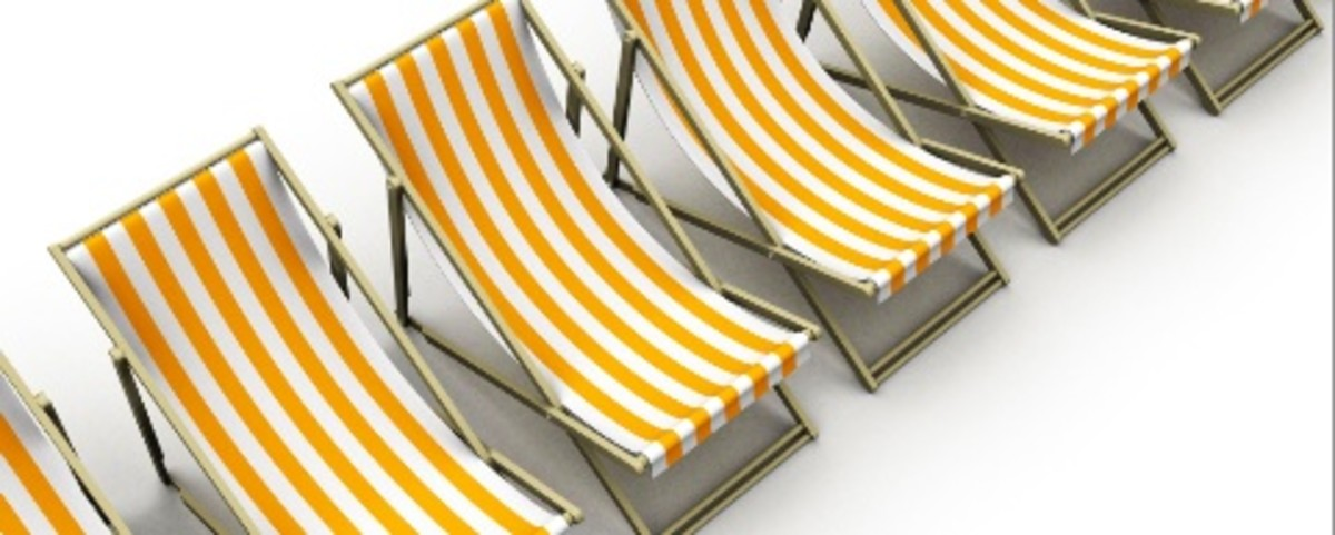 beach chair banner