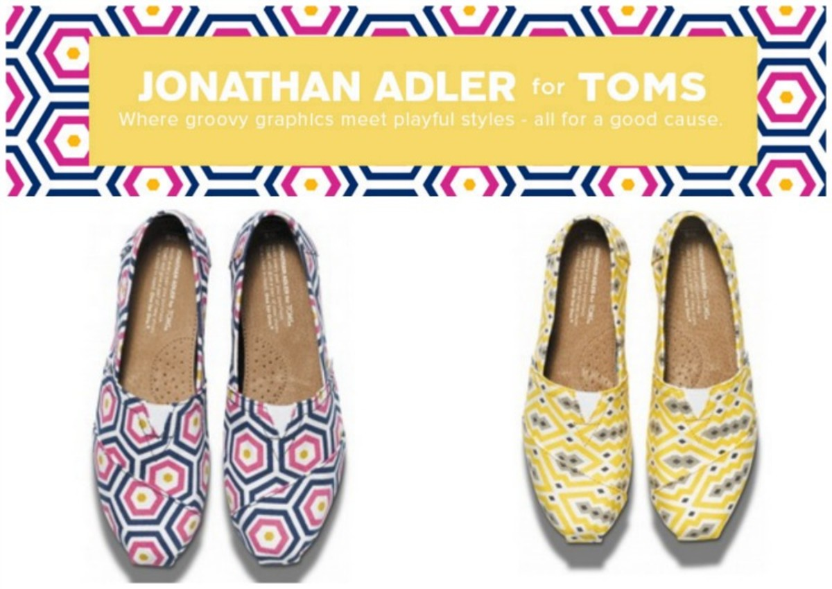 spring flats, toms and jonathan adler, TOMs shoes
