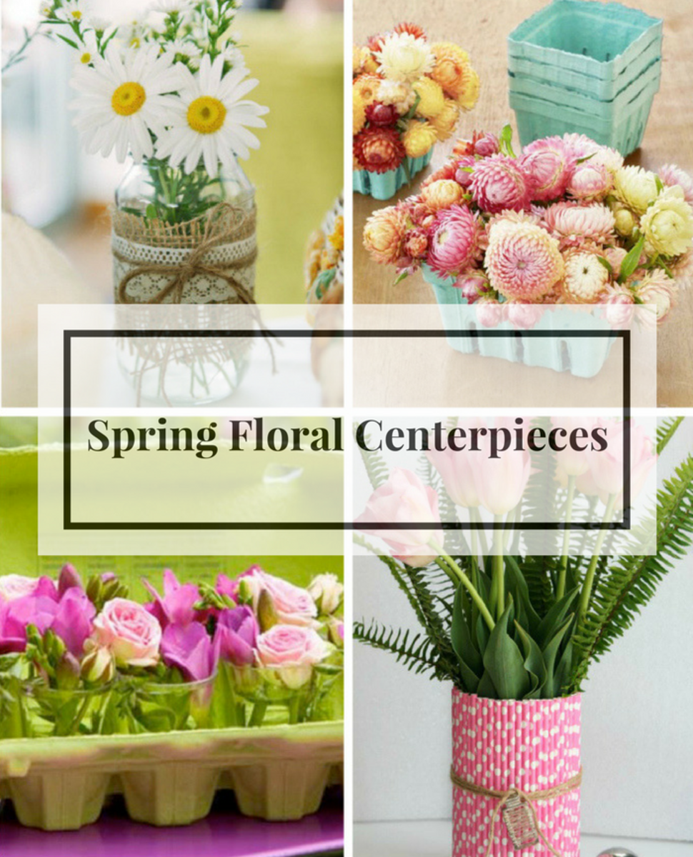 Spring centerpieces fabulous floral arrangements and upcycled vases spring blooms and inspired centerpieces mightylinksfo