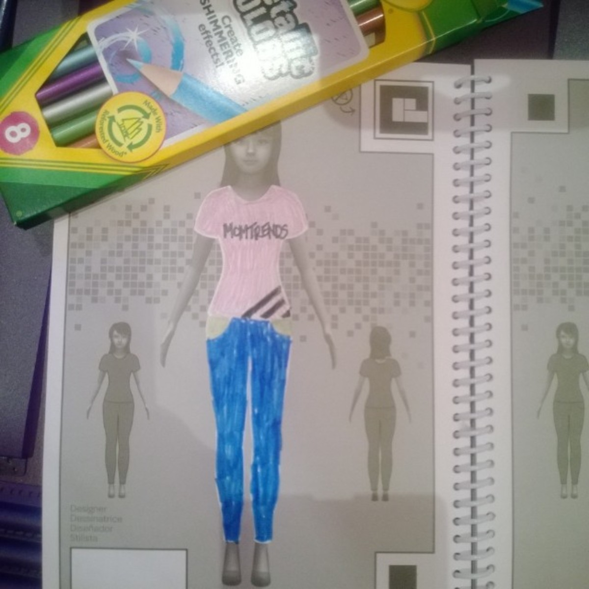 Crayola Fashion Show 2013 When you re finished drawing