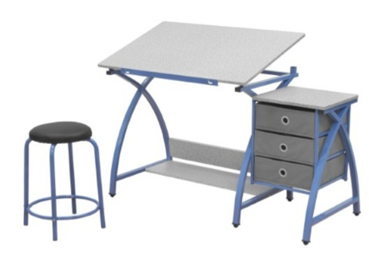 Comet Center With Stool Perfect For Budding Artists Or Architects This Desk Adjusts From Flat Homework To Up 32 Sketching