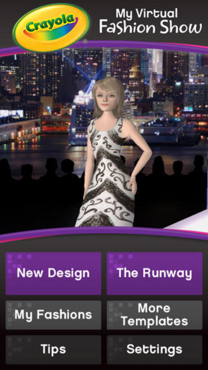 my virtual fashion app, crayola app