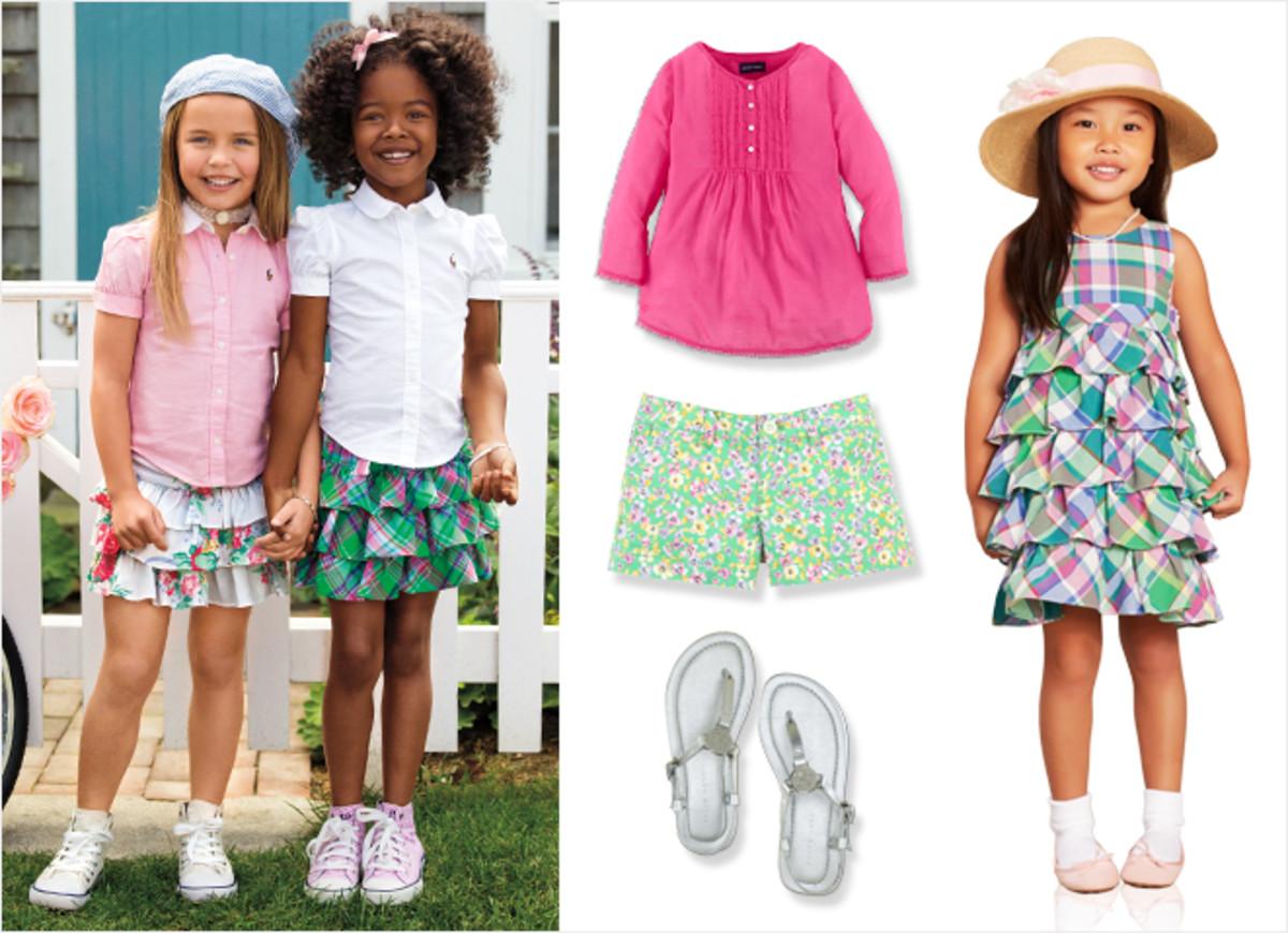 ralph lauren girls, girls floral dresses, dresses for spring