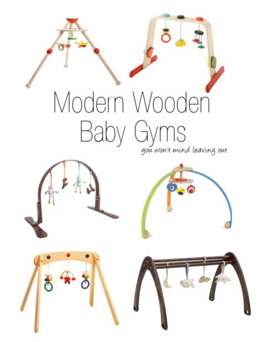 modern wooden baby gyms