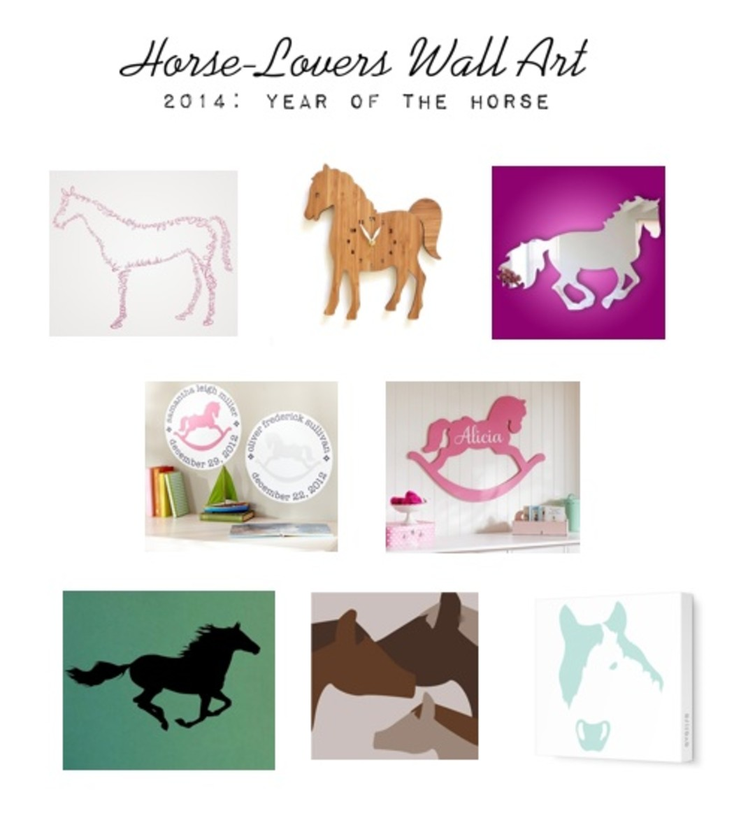 horse wall art - Horse Decor