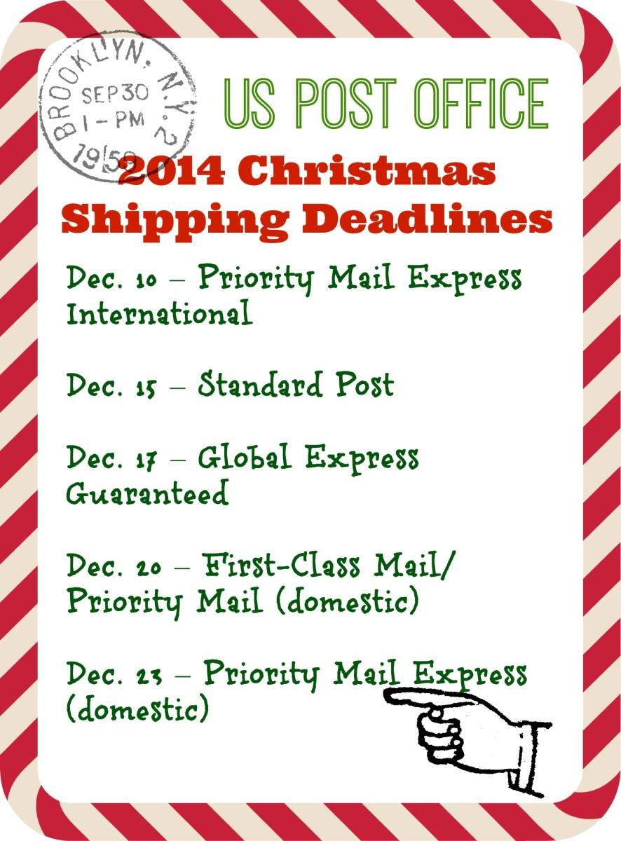 2014 usps shipping deadlines