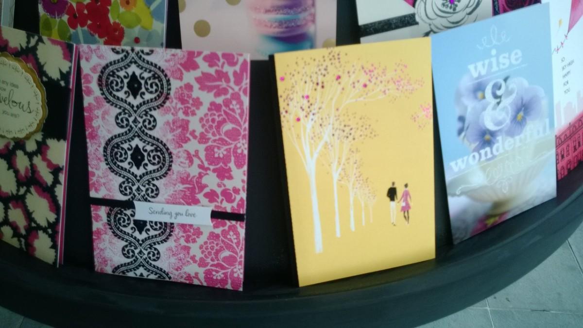 SJP cards for Hallmark