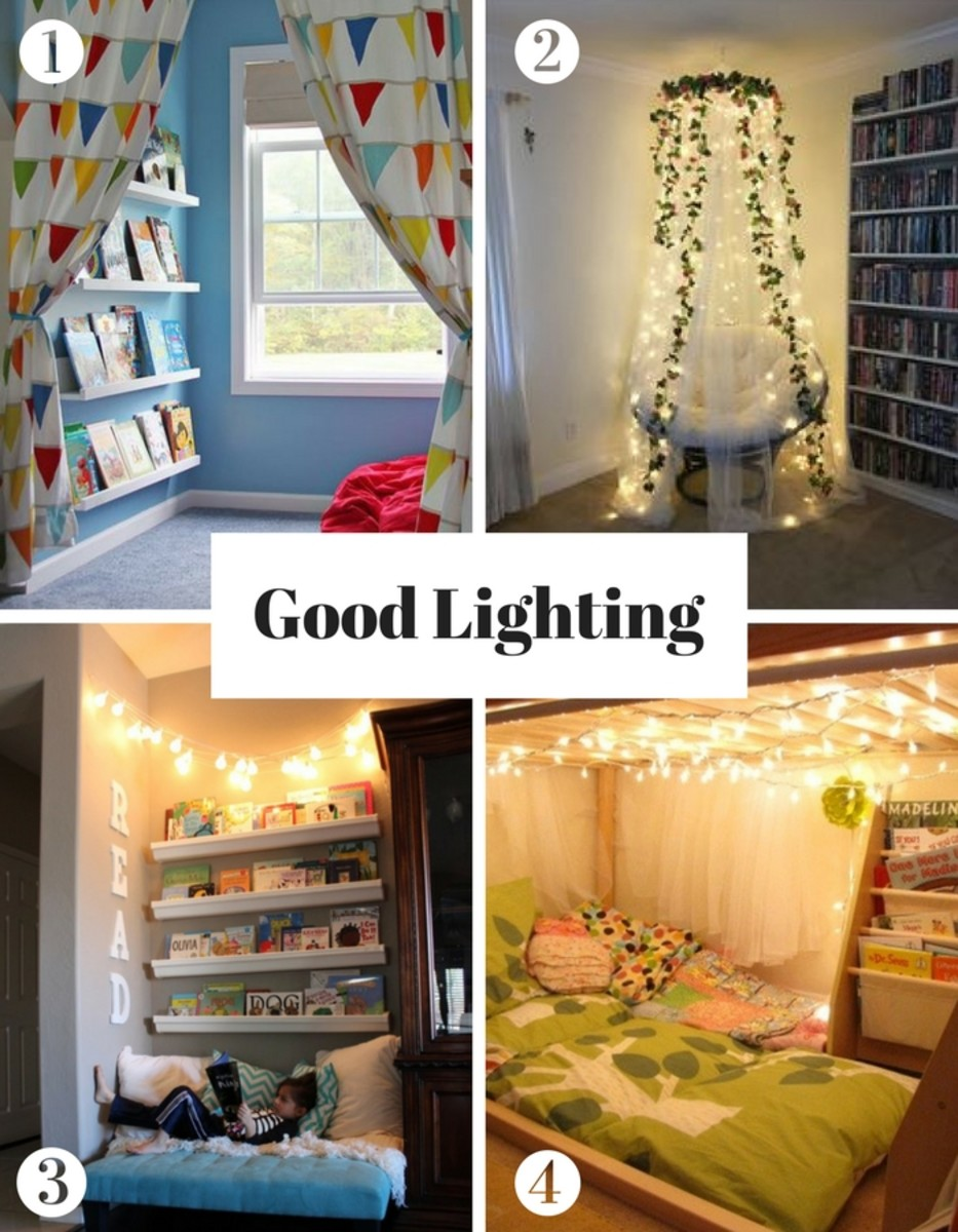Create a reading nook - good lighting